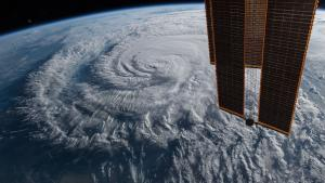satellite image of hurricane