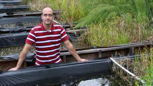 Lee Ferguson at mesocosms site