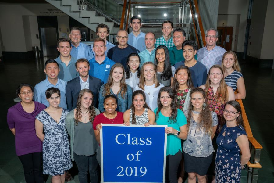 Duke CEE Class of 2019 and faculty