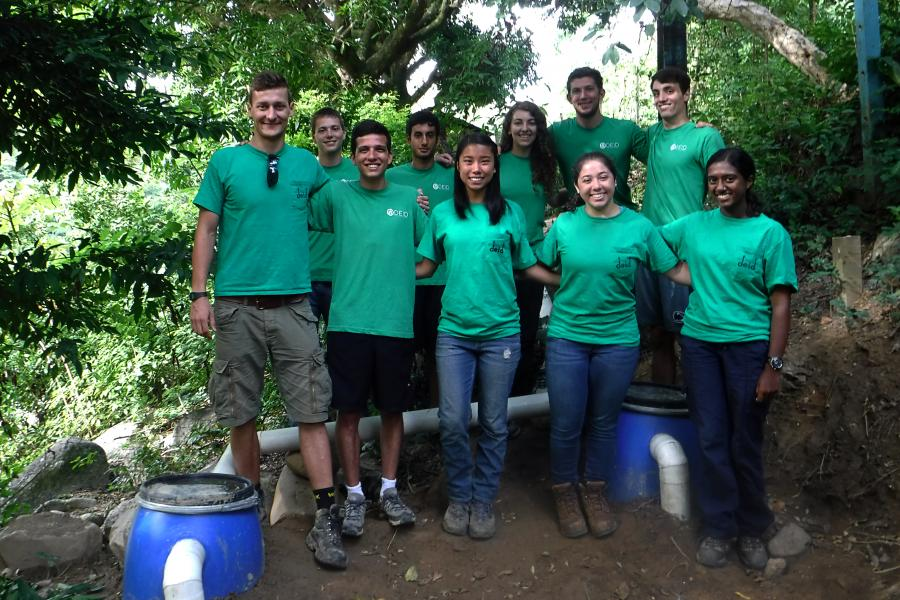DEID students designed and constructed a community greywater system for El Pital, in Honduras